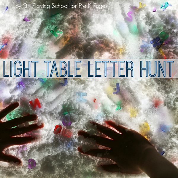 winter light table ideas kindergarten