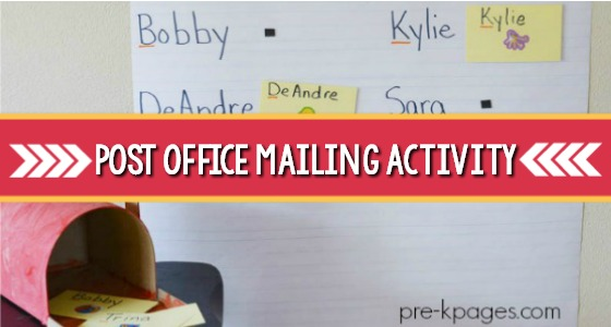 Post Office Mailing Activity For Preschoolers