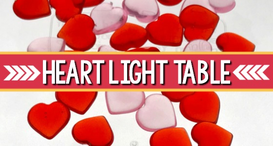 Heart Light Table for Valentines Day