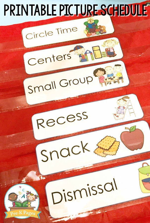 Printable Picture Schedule for Transitions in Preschool