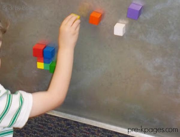 cube blocks on sticky paper