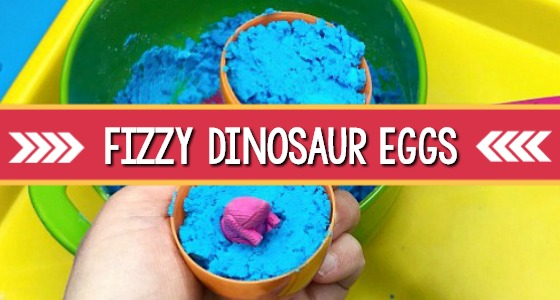 fizzy dinosaur eggs with vinegar