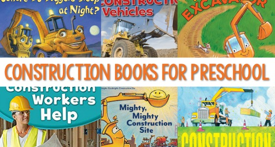 Books About Construction Vehicles for Preschool