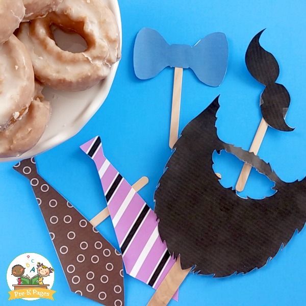 Donuts with Dudes Printable Photo Props