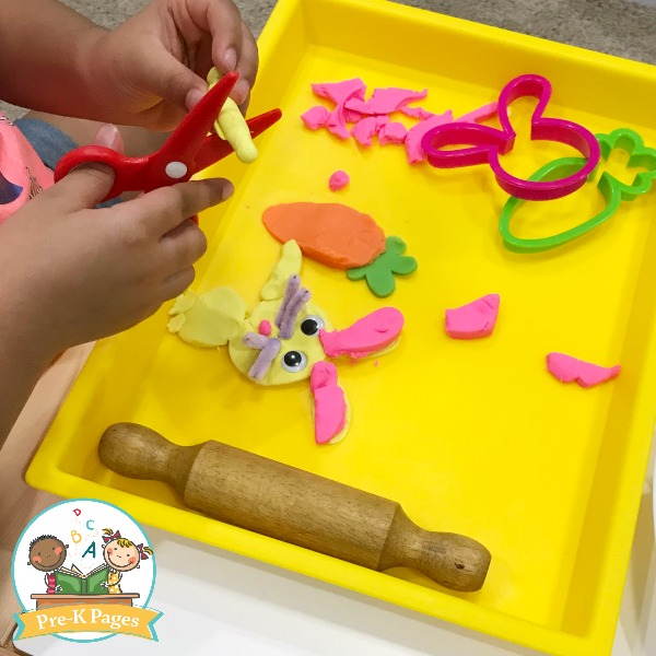 Easter Bunny Playdough Activity