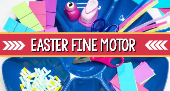 Fine Motor Easter Activity For Preschoolers