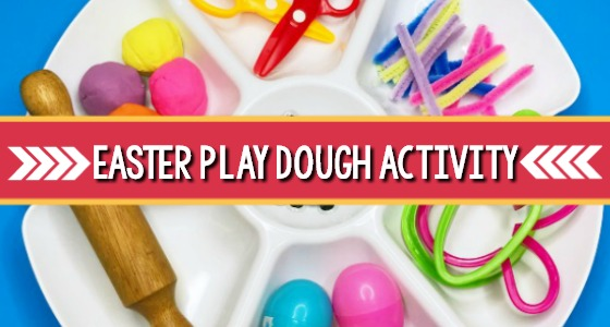 Easter Playdough Tray