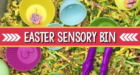 Easter Sensory Bin for Preschool