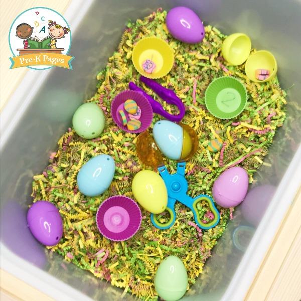 Easter Theme Sensory Bin