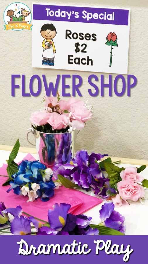 Flower Shop Pretend Play Center Printables