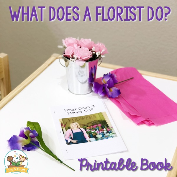 Flower Shop Printable Book