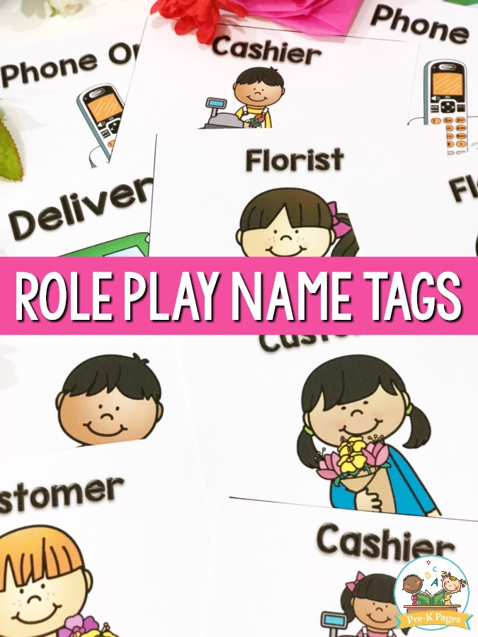 Flower Shop Role Playing Name Tags