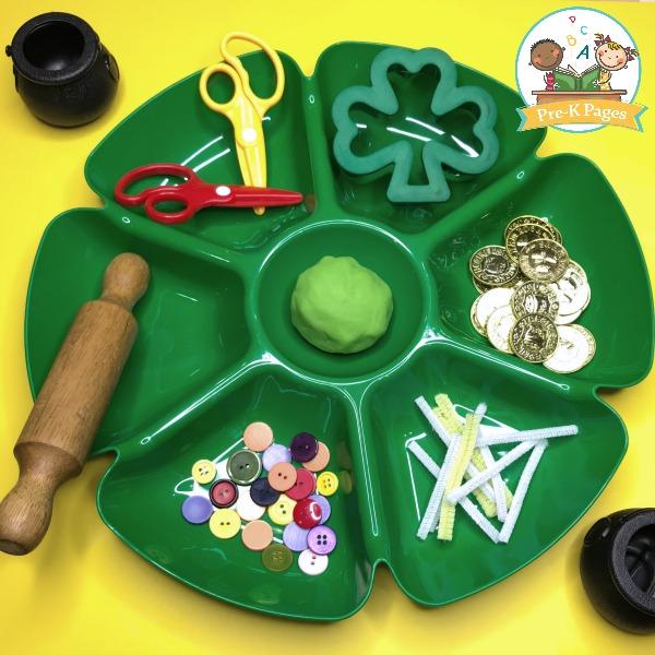 Green Playdough for St Patricks Day
