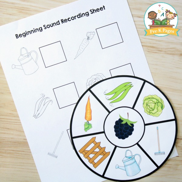 Peter Rabbit Beginning Sound Activity