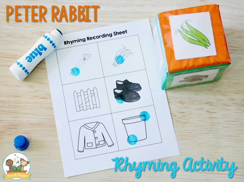Peter Rabbit Rhyming Activity