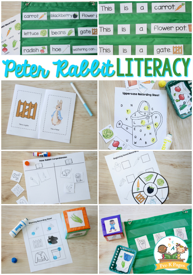 Peter Rabbit Literacy Printables for Preschool