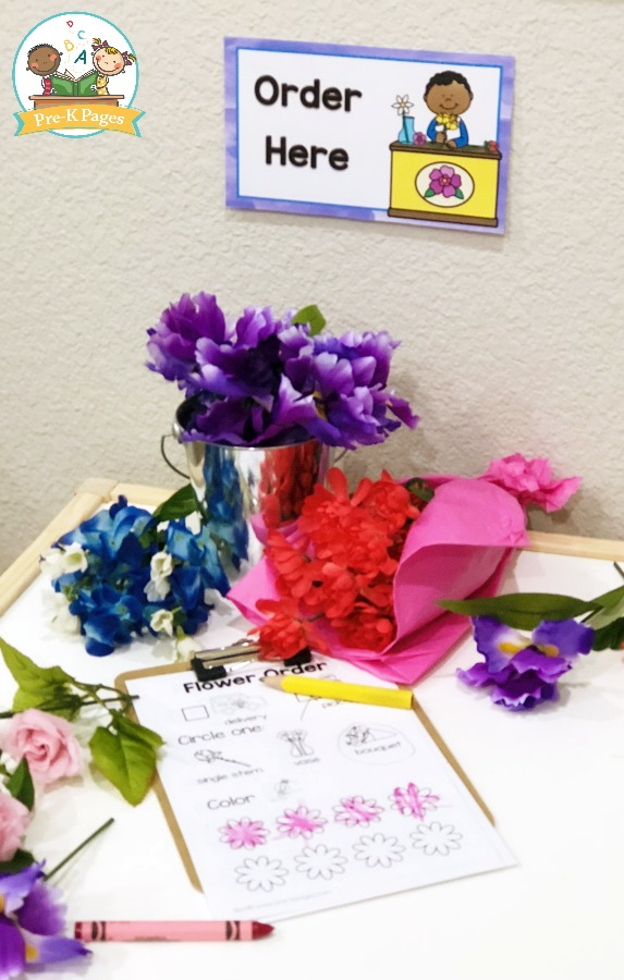 Printable Order Form for Dramatic Play Flower Shop
