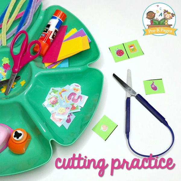 Spring Cutting Practice for Preschool