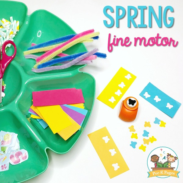 Spring Fine Motor Activities Hole Punch