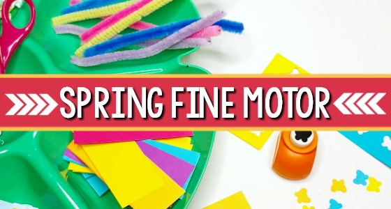 Spring Fine Motor Cutting Practice