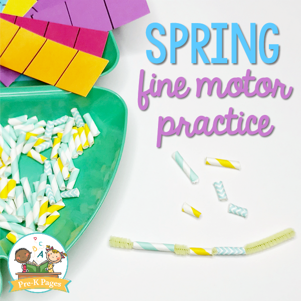 Spring Fine Motor Practice Activities for Preschool