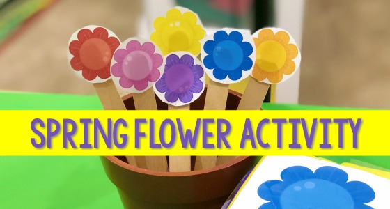 Spring Flower Activity for Preschoolers