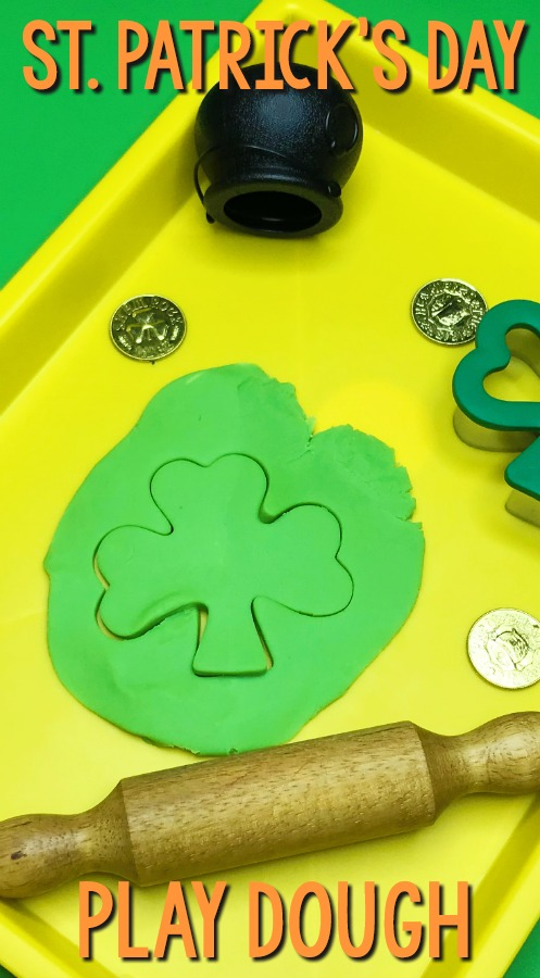 St Patricks Day Play Dough Invitation