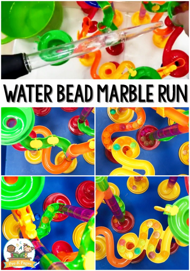 Water Bead STEM Activity on Marble Run