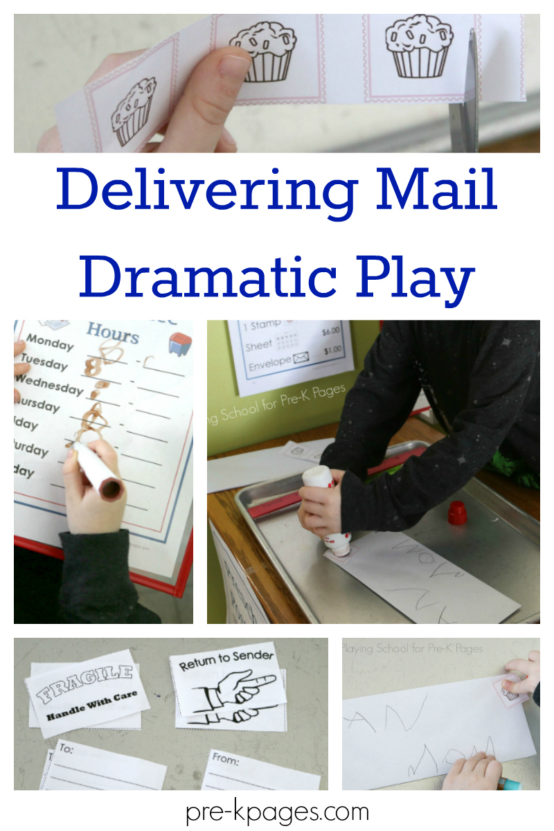 delivering mail dramatic play for preschool