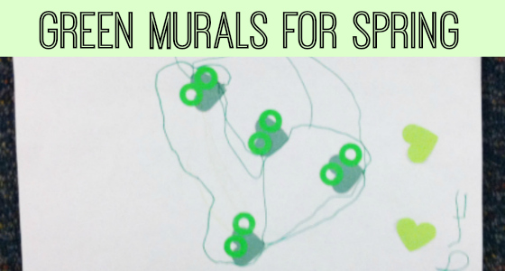 green murals for spring