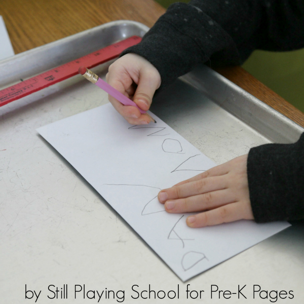 post office writing play preschool