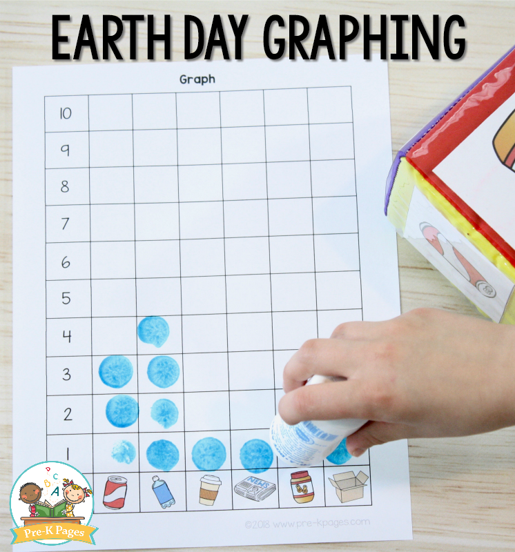 Earth Day Graphing Activity for Preschool