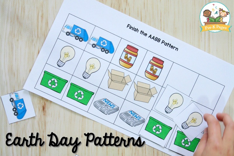 Earth Day Pattern Activity for Preschool