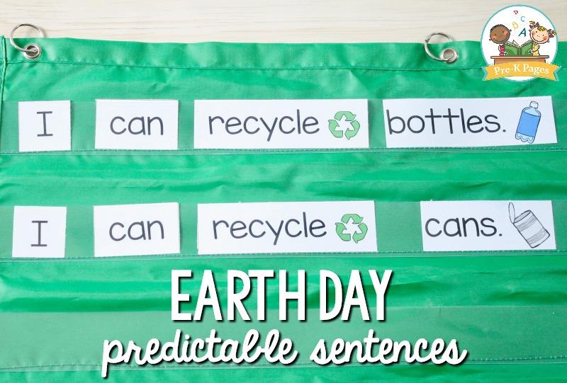 Earth Day Pocket Chart Sentences