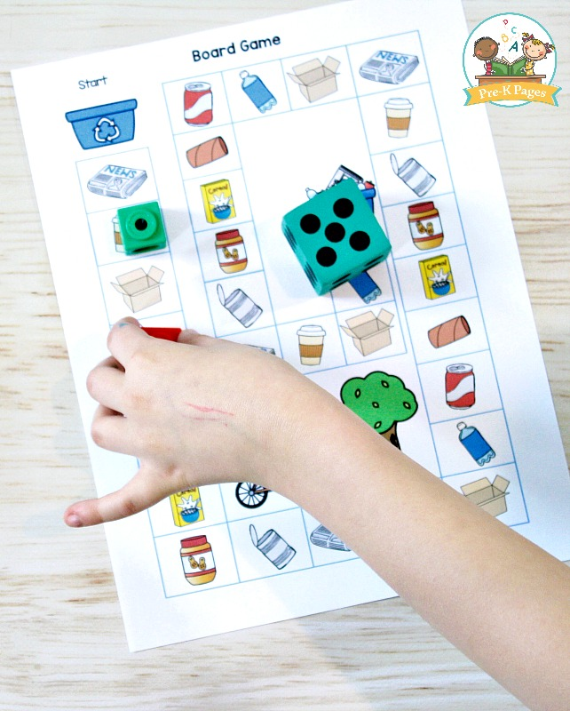 Earth Day Printable Board Game