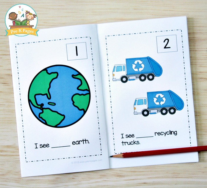 Earth Day Printable Counting Book for Preschool