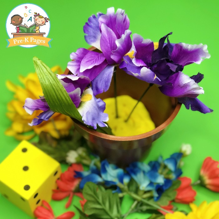 Flower Counting Activity for Preschoolers