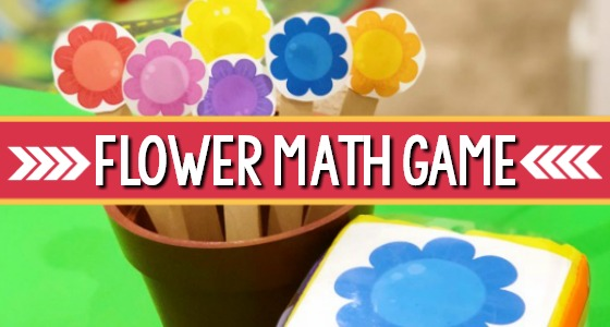 Spring Flower Math Game for Preschool
