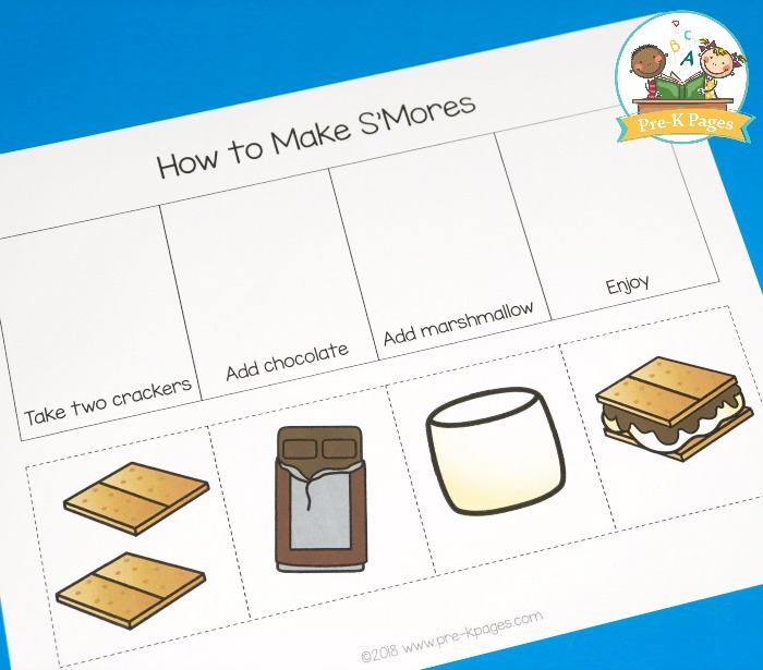 How to Make Smores Sequence Cards