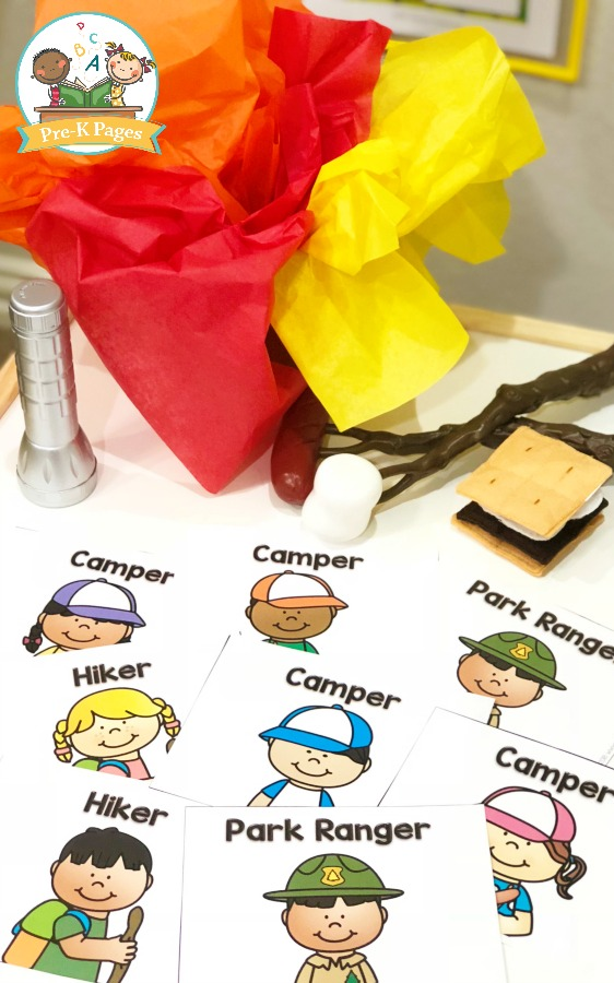 Printable Camping Role Play Nametags