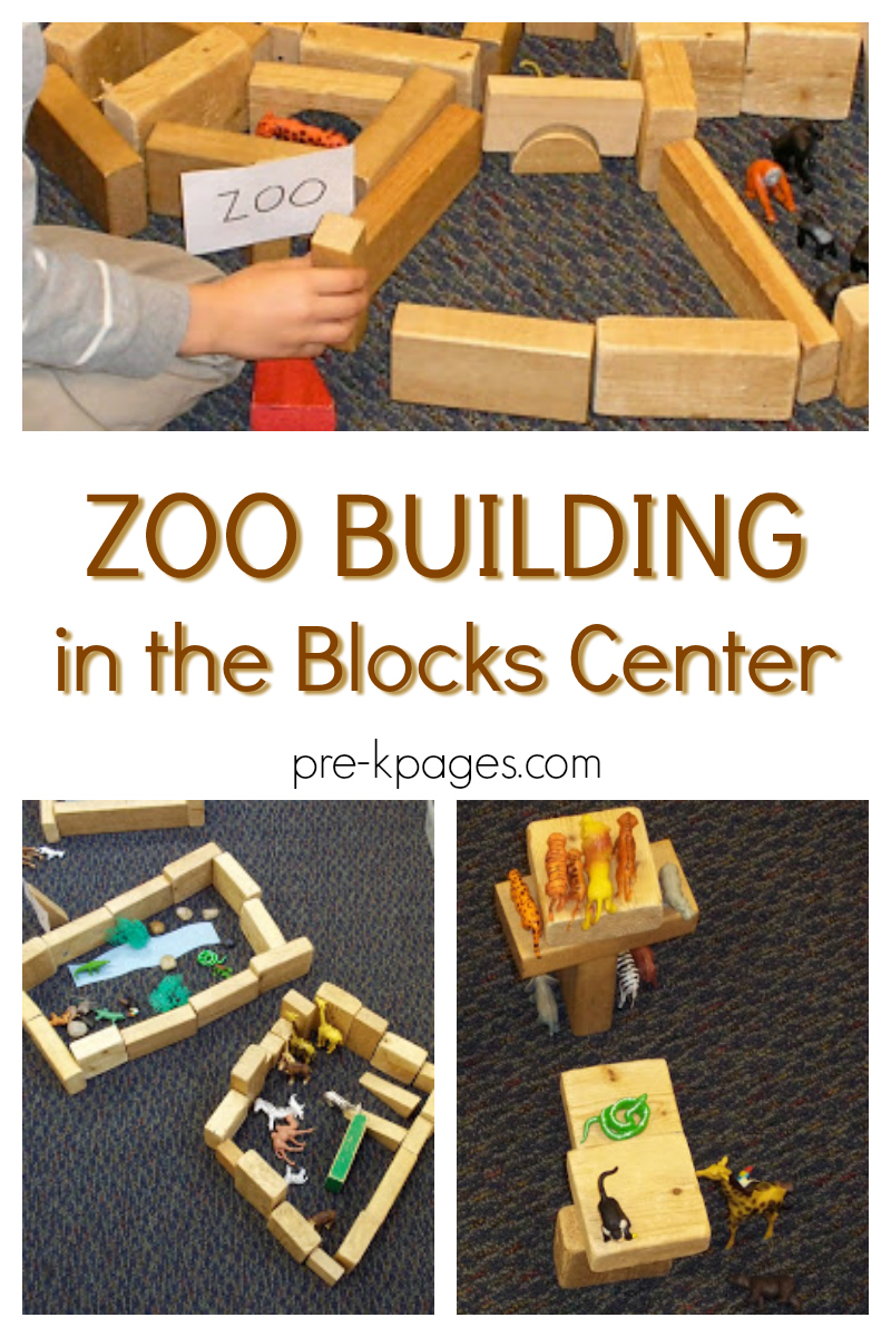 blocks center zoo building for preschool