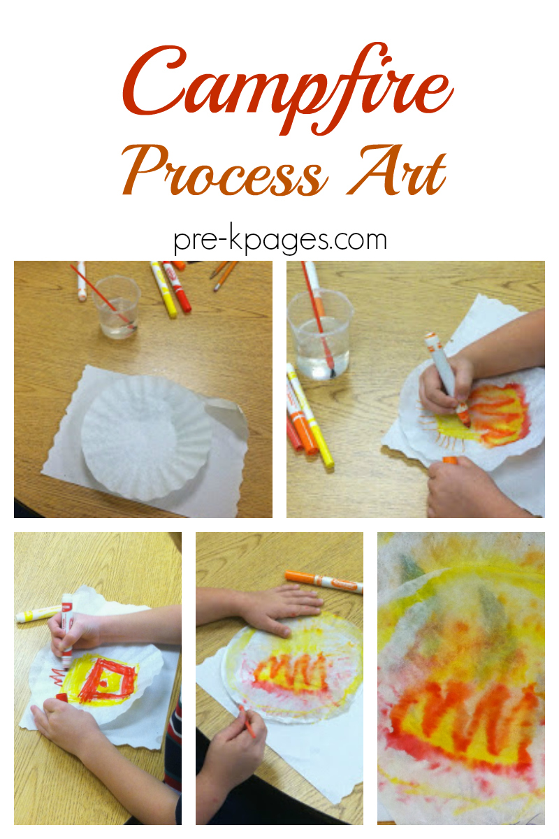 camping process art for preschool