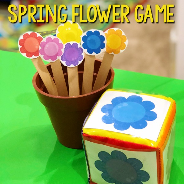 Spring Flower Math Game For Preschool Pre K Pages