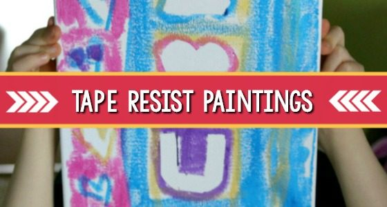 Tape Resist Paintings