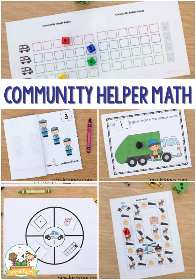 Community Helper Preschool Math Activities