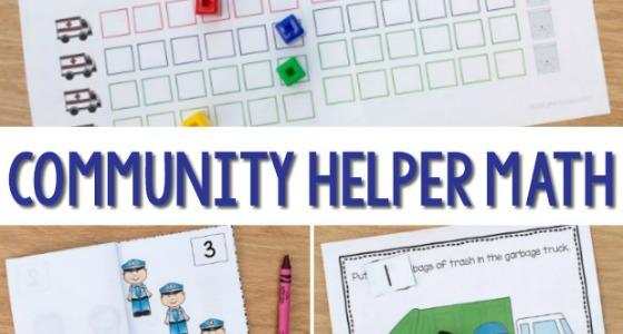 Community Helpers Math Activities for Preschool