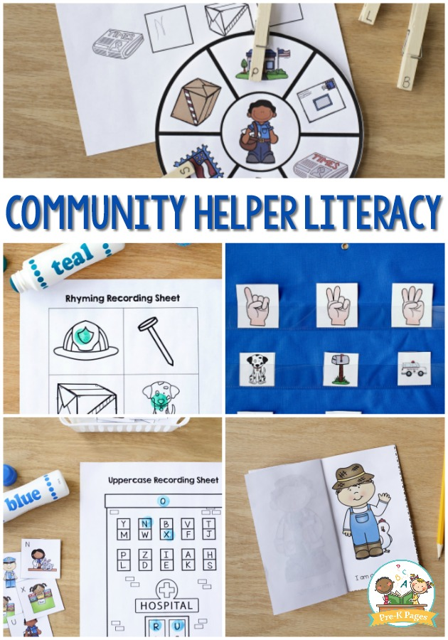 Community Helpers Preschool Literacy Activities