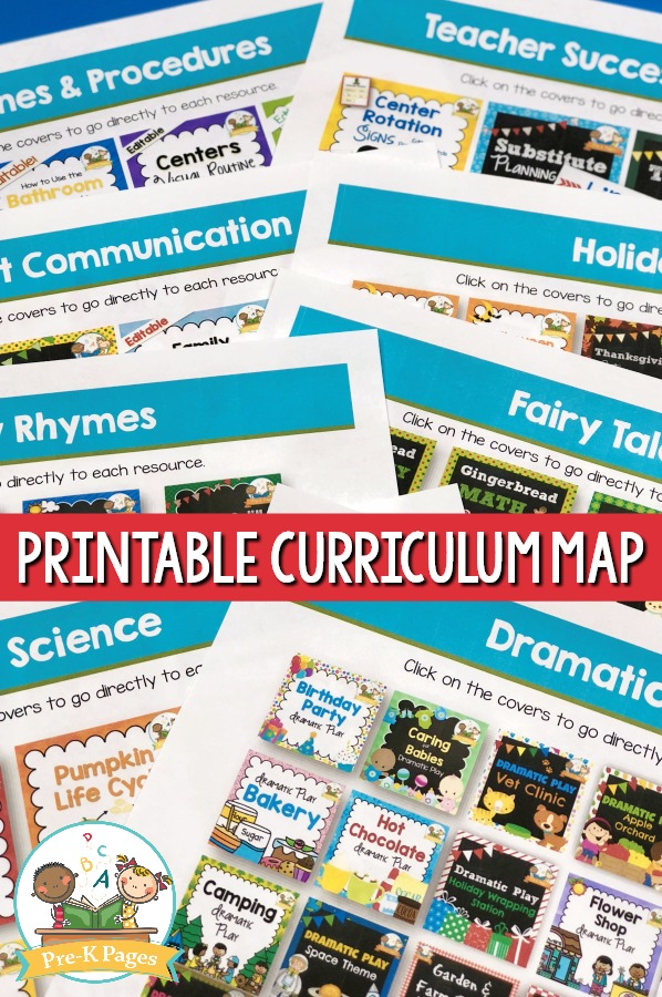 Curriculum Map for Preschool Planning