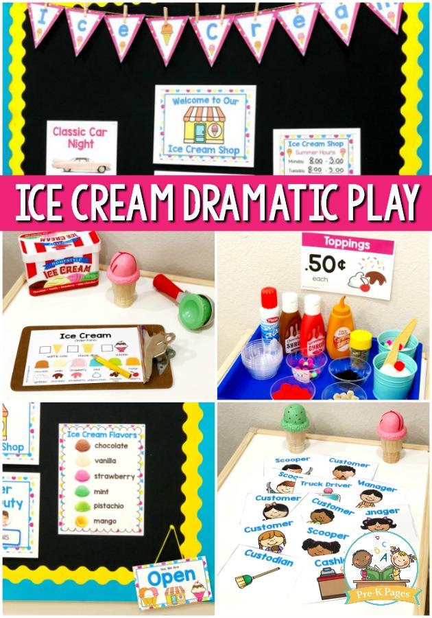 Dramatic Play Ice Cream Shop for Preschool