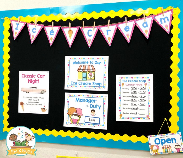 Ice Cream Dramatic Play Signs